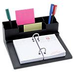 Support bloc éphéméride et pot à crayons ELAMI 20 (H) x 22,3 (l) cm Noir Noir