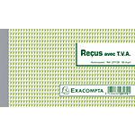 Manifold autocopiant Exacompta Reçus avec TVA 25 Pages   50 Dupli