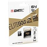 Carte mémoire EMTEC EliteGold 64 Go microSDHC