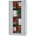 Armoire portes à rideaux H.180 cm RS To go   décor uni gris