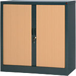 Armoire portes à rideaux  BEECH KD 450X1000X1980MM Acier 100 (L) x 45 (l) x 100 (H) cm Imitation hêtre