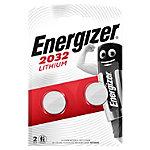 Pile bouton Energizer Lithium CR2032 2 Piles