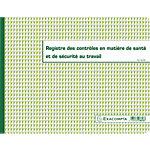 Registre Hygiène   Sécurité Exacompta Piqûre 24 x 32 cm 20 Pages Vert