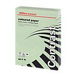 Ramette de papier couleur vert pastel de 250 feuilles   Office Depot   A4   160g