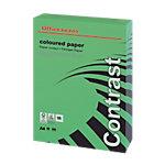 Ramette de papier couleur verte teinte intense de 500 feuilles   Office Depot   A4   80g