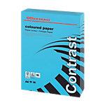 Ramette de papier couleur bleue teinte intense de 250 feuilles   Office Depot   A4   160g