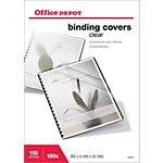 100 Couvertures PVC transparentes incolores   Office DEPOT   format A4 150 microns