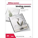 100 Couvertures PVC transparentes incolores   Office DEPOT   format A4 200 microns