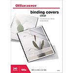 100 Couvertures PVC transparentes incolores   Office DEPOT   format A4 240 microns