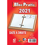 Bloc éphéméride Office Depot Exaclair 12 (H) x 8,2 (l) cm 1 Jour sur 2 pages Rouge