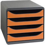 Module de classement Exacompta Big Box 26,7 (H) x 27,8 (l) x 34,7 (P) cm Orange, noir