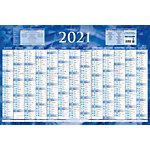 Calendrier Annuel 12 mois au recto 43 x 65 cm Coloris assortis