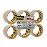 Ruban adhésif d'emballage Résine de caoutchouc synthétique Scotch 5cm (l) x 66m (L) 43 µm Transparent   6 rouleaux
