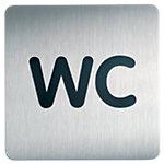 Plaque de porte WC DURABLE 15 (H) x 15 (l) cm