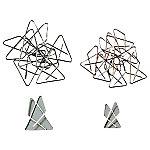 Attaches géantes  4,7 (H) x 5,3 (l) cm Argenté   100