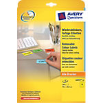 Étiquettes Papier 280 étiquettes Avery L6057 20 38,1 (H) x 99,1 (l) mm Jaune