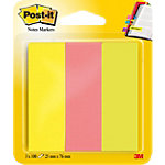 Index Post it 671 3 7,6 (H) x 2,5 (l) cm Assortiment   3