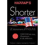 Dictionnaire anglais français   Harrap's Shorter   19,5 x 27,5 cm