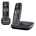 Téléphone sans fil DECT avec répondeur   Gigaset   C530A Duo   Noir