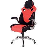 Siège de bureau Basculant centré Realspace Cuir, tissu Maxx Rouge, noir