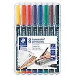 Feutre permanent STAEDTLER Lumocolor Assortiment   8