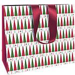 Sac cadeau Papier Arbres de Noël Clairefontaine 35cm (H) x 27,5cm (l) Assortiment