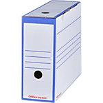 Boîtes d'archivage Office Depot 100 mm 24,5 (H) x 9,2 (l) cm Bleu   Paquet 25 Boîtes