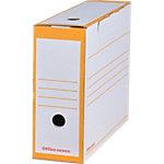 Boîtes d'archivage Office Depot 90 mm 24,5 (H) x 10 (l) cm Jaune   25
