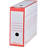 Boîtes archives Office Depot 24,5 (H) x 10 (l) cm Rouge