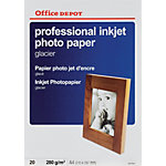 Papier photo glacé Brillant Blanc Office Depot Professional A4 280 g