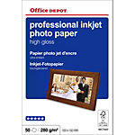 Papier photo professionnel Ultra brillant Blanc Office Depot Professional 10 x 15 cm 270 g