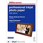 Papier photo professionnel Brillant Blanc Office Depot Professional A4 270 g