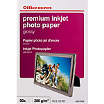 50 Feuilles de papier photo premium jet d'encre brillant   Office Depot   10x15   280 g