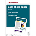 250 feuilles de papier photo laser brillant   Office Depot   A4   135 g