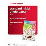 100 Feuilles de papier photo standard jet d'encre mat   Office Depot   A4   120g
