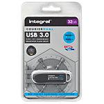 Clé USB sécurisée  Integral Courier Dual FIPS 32 Go Noir, Argenté