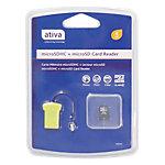Carte mémoire MicroSD HC   Ativa   4 Go + Adaptateur