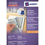 Intercalaires pour reliure  Papier, dos cartonné Avery A4 Blanc, transparent   6