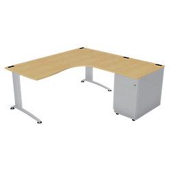 bureau droit avec retour a droite caisson hauteur de bureau unbranded integral evo 180 l x 80 p. Black Bedroom Furniture Sets. Home Design Ideas