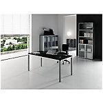 Plateau de verre noir   Gamme Carat   L.160 x P. 80 x H. 72 cm