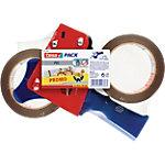Ruban adhésif d'emballage et dérouleur 50mm (l) x 66m (L) tesa Bleu et rouge