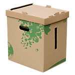 Corbeille à papier recyclée FAST Nature 27 L Brun