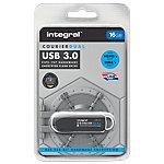 Clé USB Flash Integral Courier Dual FIPS 16 Go Noir, Argenté