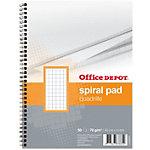Cahier double spirale Office Depot A5+ Couverture dûre 70 g