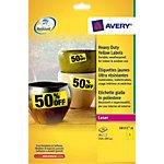 Étiquettes polyvalentes Avery L6111 L6111 20 297 (H) x 210 (l) mm Jaune 20 étiquettes   20
