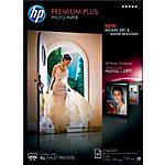 20 Feuilles de papier photo   HP   CR672A   qualité photo couché brillant Premium plus   A4 300g