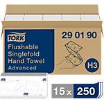 Essuie mains Tork Advanced   Délitable 2 épaisseurs   15 x 250 Feuilles