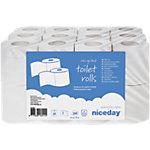 Rouleaux de papier toilette Niceday 2 épaisseurs   24 Rouleaux