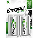 Piles rechargeables Energizer Power Plus D 2 Piles