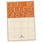 Bloc papier Millimètre   Canson   29,7 x 42